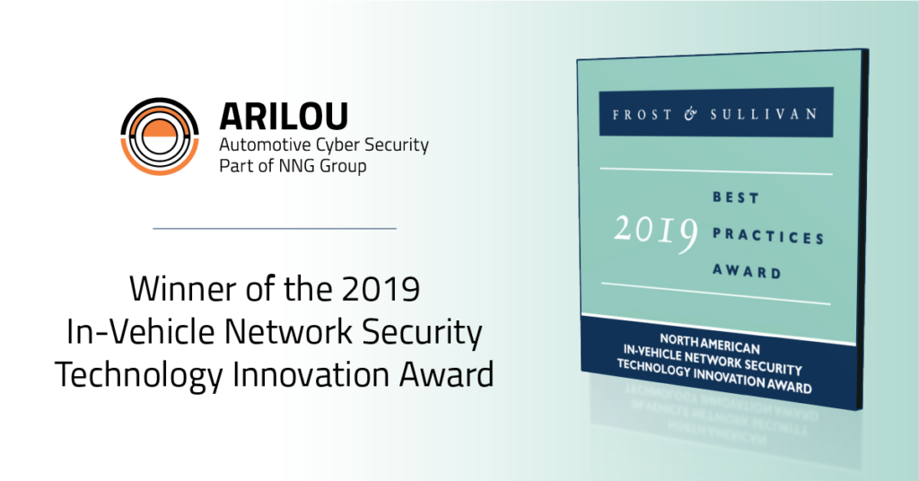 NNG, Arilou, Cybersecurity, Cyber-security, Cyber Security, Frost and Sullivan, Frost & Sullivan, 2019 Best Practice Award for Technology Innovation, In-vehicle Network Security, Arilou Technologies, Best Practices Award