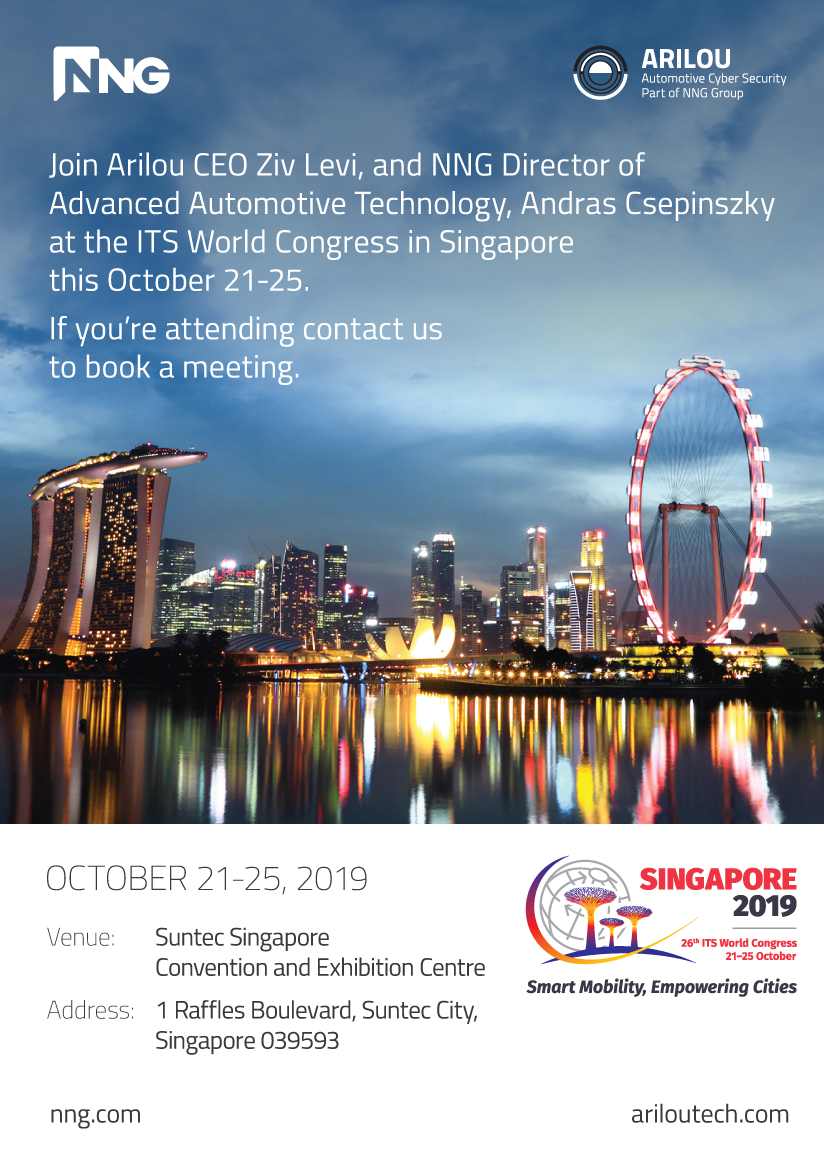 NNG, Arilou, Connected Mobility, IDPS, PIPS, Automotive, Cyber Security, ITS, Intelligent Transport Systems, ITS World Congress 2019